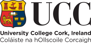 Logo for UCC: University College Cork, Ireland.